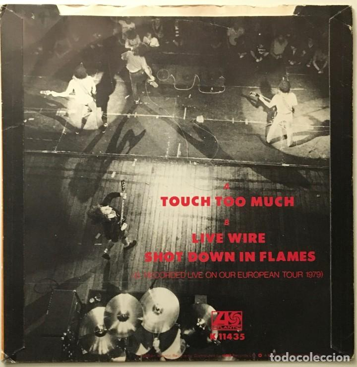 Discos de vinilo: AC/DC – Touch Too Much - Live Wire - Shot Down In Flames UK 1980 ATLANTIC - Foto 2 - 189463103