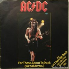 Discos de vinilo: AC/DC – FOR THOSE ABOUT TO ROCK (WE SALUTE YOU) - LET THERE BE ROCK (LIVE) UK 1982 ATLANTIC. Lote 189463221