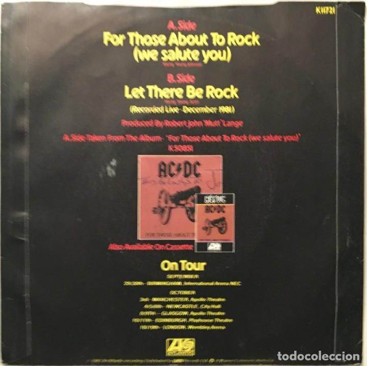 Discos de vinilo: AC/DC – For Those About To Rock (We Salute You) - Let There Be Rock (Live) UK 1982 ATLANTIC - Foto 2 - 189463221