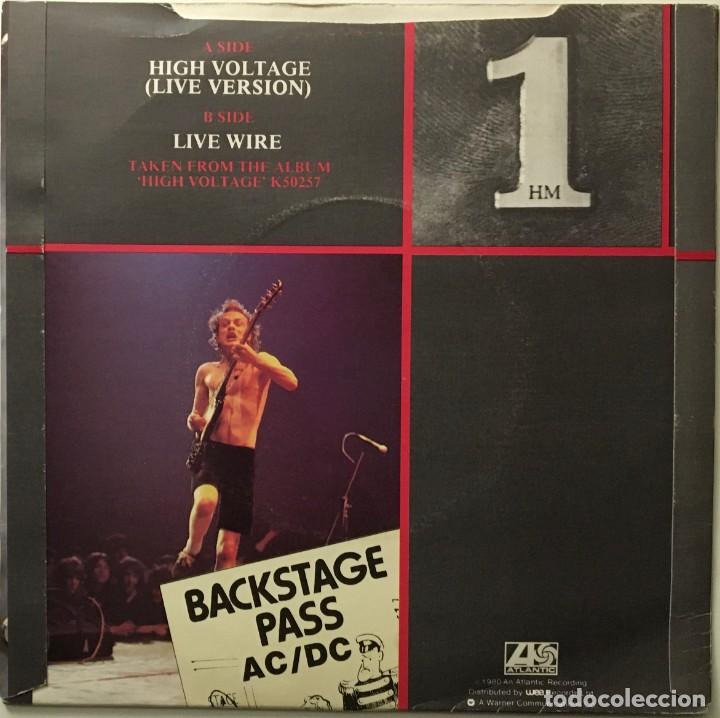 Discos de vinilo: AC/DC – High Voltage (Live Version) - Live Wire UK 1980 ATLANTIC - Foto 2 - 189463415