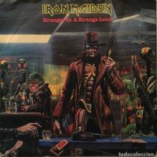 Discos de vinilo: IRON MAIDEN – STRANGER IN A STRANGE LAND - SILVER INJECTION MOULDED LABEL UK 1986 EMI. Lote 189466488