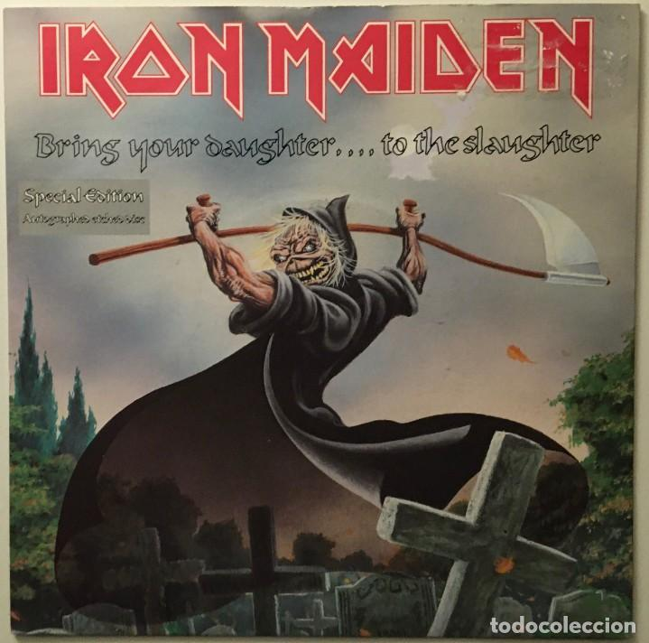 IRON MAIDEN – BRING YOUR DAUGHTER... TO THE SLAUGHTER - I'M A MOVER UK 1990 EMI (Música - Discos - Singles Vinilo - Heavy - Metal)