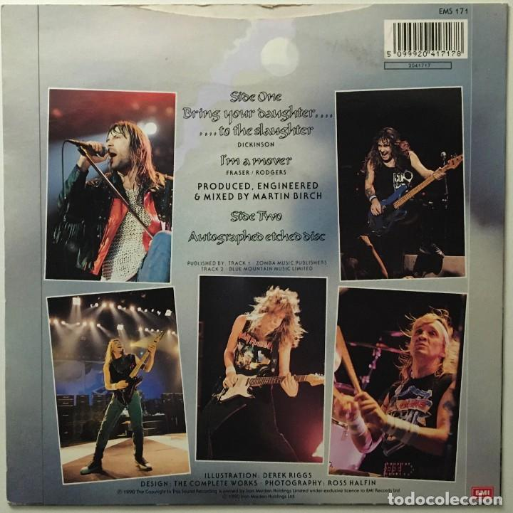 Discos de vinilo: Iron Maiden – Bring Your Daughter... To The Slaughter - Im A Mover UK 1990 EMI - Foto 2 - 189466838