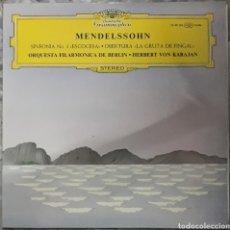 Discos de vinilo: VINILO MENDELSSOHN SINFONÍA N°3. Lote 189469853