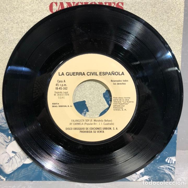 Discos de vinilo: SINGLE CANCIONES DE LA GUERRA CIVIL ESPAÑOLA - DIAL DISCOS 1978 - Foto 3 - 189475235