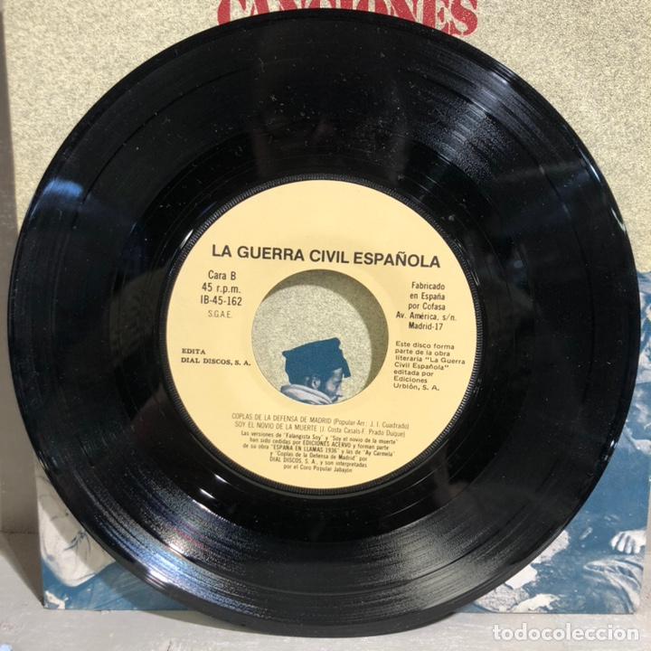 Discos de vinilo: SINGLE CANCIONES DE LA GUERRA CIVIL ESPAÑOLA - DIAL DISCOS 1978 - Foto 4 - 189475235
