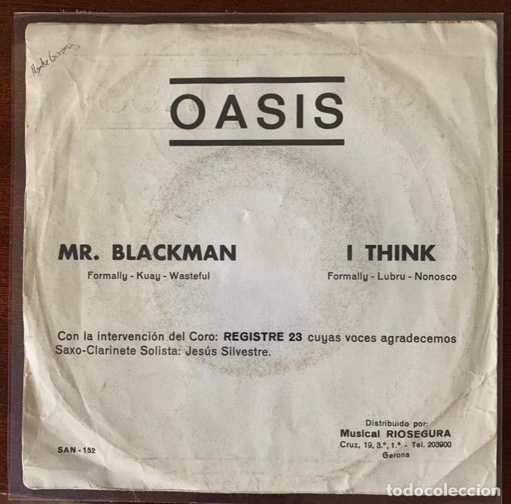 "Discos de vinilo: Oassis ""mr Blackman / i think "" new promotion 1975 raro psych pop riosegura - Foto 3 - 189479553"