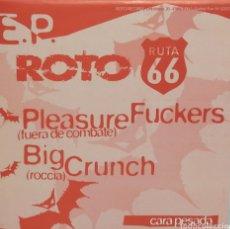 Discos de vinilo: EP ROTO-RUTA 66, P. FUCKERS-BIG CRUNCH-... H+2 (ROTO 1994) - CARTA DISCOGRAFICA-. Lote 189481585
