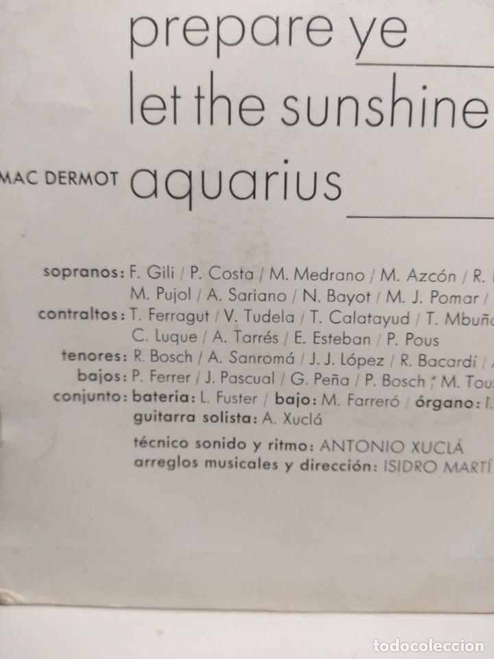 Discos de vinilo: EP GRUPO MUSICAL LA SALLE : GODSPELL (DAY BY DAY & PREPAR + HAIR ( LET THE SUNSHINE IN & AQUARIUS ) - Foto 2 - 189482246