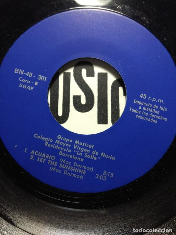Discos de vinilo: EP GRUPO MUSICAL LA SALLE : GODSPELL (DAY BY DAY & PREPAR + HAIR ( LET THE SUNSHINE IN & AQUARIUS ) - Foto 3 - 189482246