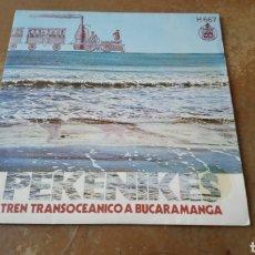 Discos de vinilo: PEKENIKES –TREN TRANSOCEANICO A BUCARAMANGA / ALADINO. SINGLE VINILO - BUEN ESTADO. Lote 189487168