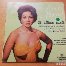 Discos de vinilo: SARITA MONTIEL. EL ÚLTIMO CUPLÉ (NENA / BALANCE, BALANCE / TU NO ERES ESO / LA NIETA DE CARMEN). Lote 189494791