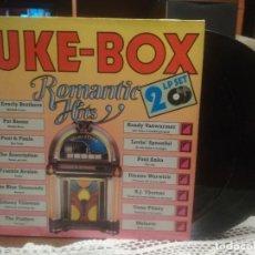 Discos de vinilo: JUKE BOX ROMANTIC DOBLE LP 1989 PEPETO. Lote 189508127