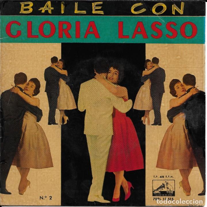 GLORIA LASSO BAILE CON... VOLUMENES 1 Y 2 LA VOZ DE SU AMO 1960 (Música - Discos de Vinilo - EPs - Solistas Españoles de los 50 y 60)