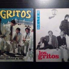Discos de vinilo: LOTE 2 SINGLES - LOS GRITOS - LA VIDA SIGUE IGUAL (2 EDICIONES DIFERENTES) (BELTER, 1968). Lote 189514116