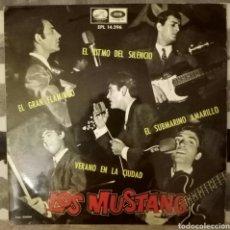 Discos de vinilo: LOS MUSTANG - SUBMARINO AMARILLO + 3. Lote 189518948