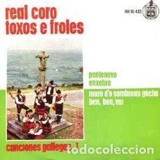 Discos de vinilo: REAL CORO TOXOS E FROLES – CANCIONES GALLEGAS 1 - PONTENOVO ENXEBRE. HISPAVOX HH16-432. ESPAÑA 1963. Lote 189519142