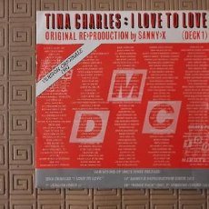 Discos de vinilo: TINA CHARLES – I LOVE TO LOVE SELLO: BLACK SCORPIO – SCM 1266-7 FORMATO: VINYL, 7 45 RPM, STEREO. Lote 189554387