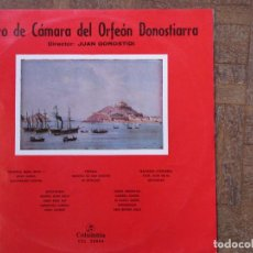 Discos de vinilo: CORO DE CÁMARA DEL ORFEÓN DONOSTIARRA. COLUMBIA, CCL 32004. 1958, ESPAÑA. FUNDA VG++. DISCO VG++. Lote 189554921