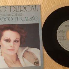 Discos de vinilo: ROCIO DURCAL. CANTA A JUAN GRABIEL. FUE TAN POCO TU CARIÑO. 1978. Lote 189599372