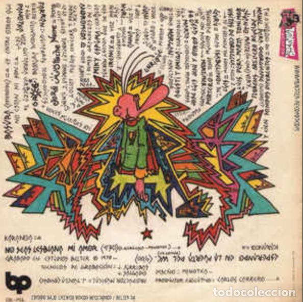 Discos de vinilo: SINGLE/EP BASURA NO SEAS LESBIANA MI AMOR REE. JOYA PUNK. NUEVO!!!! ESKORBUTO RIP LARSEN UVI - Foto 2 - 189602361