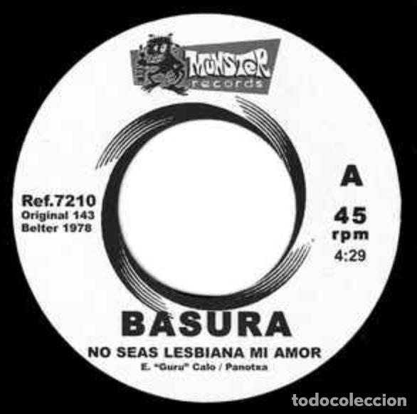 Discos de vinilo: SINGLE/EP BASURA NO SEAS LESBIANA MI AMOR REE. JOYA PUNK. NUEVO!!!! ESKORBUTO RIP LARSEN UVI - Foto 4 - 189602361