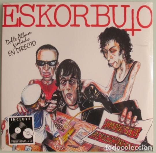 ESKORBUTO LP + CD IMPUESTO REVOLUCIONARIO DRO REE NUEVO/PRECINTADO!! RIP LARSEN COMMANDO VULPESS (Música - Discos - Singles Vinilo - Punk - Hard Core)