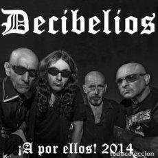 Discos de vinilo: DECIBELIOS A POR ELLOS 2014 SINGLE/EP SPLATTER VINYL RAREZA PUNK OI! NUEVO!! ESKORBUTO RIP LARSEN. Lote 189602986