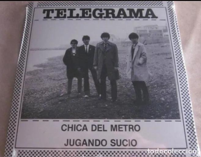 TELEGRAMA SINGLE CHICA DEL METRO +1 NUEVO! JOYA MOD ROCKER BARCELONA 80'S BRIGHTON LA BANDA TRAPERA (Música - Discos - Singles Vinilo - Punk - Hard Core)