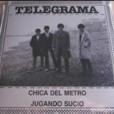 Discos de vinilo: TELEGRAMA CHICA DEL METRO+1 JOYA POP ROCK MOD ROCKER BARCELONA 80'S BRIGHTON BANDA TRAPERA ESKORBUTO. Lote 189603005