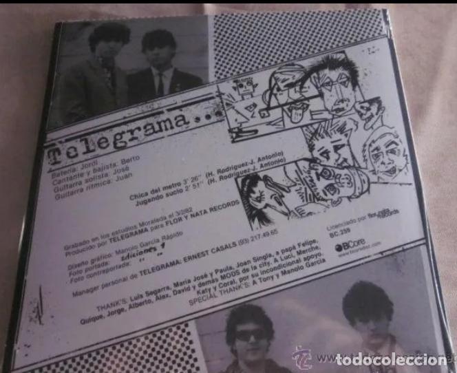 Discos de vinilo: TELEGRAMA SINGLE CHICA DEL METRO +1 NUEVO! JOYA MOD ROCKER BARCELONA 80S BRIGHTON LA BANDA TRAPERA - Foto 2 - 189603005