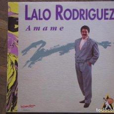Discos de vinilo: LALO RODRIGUEZ. AMAME. BAT RECORDS, 060 796181. ESPAÑA, 1991. FUNDA VG++. DISCO VG++.. Lote 189613522