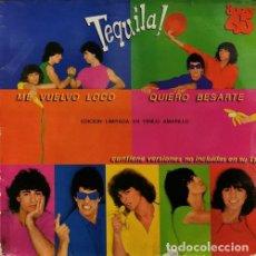 Discos de vinilo: TEQUILA - ME VUELVO LOCO - MAXI SINGLE EDICION LIMITADA EN VINILO AMARILLO - 1979. Lote 189617563