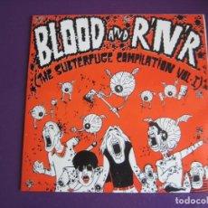 Discos de vinilo: BLOOD AND R'N'R (THE SUBTERFUGE COMP. Nº I) EP 1990 - LA PERRERA - CEREBROS EXPRIMIDOS - ETC - PUNK . Lote 189633347