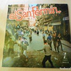 Discos de vinilo: IRUÑA´KO, LOS - EL SAN FERMIN -, EP, IRRITZI DE IRUÑA + 5, AÑO 1962. Lote 189633778