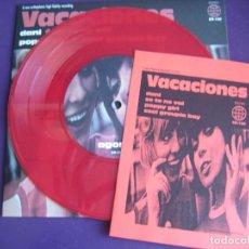 Discos de vinilo: VACACIONES EP ELEFANT 1998 VINILO ROJO + INSERT - DANI +3 POP INDIE LOUNGE. Lote 189639306