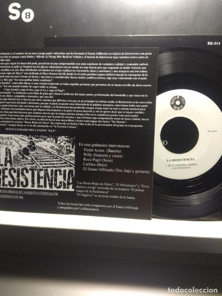 Discos de vinilo: EP LA RESISTENCIA : EL PRIMER ATAQUE DE LA RESISTENCIA ( HARD CORE PUNK, RADIKAL RECORDS 1977 ) - Foto 4 - 189647851
