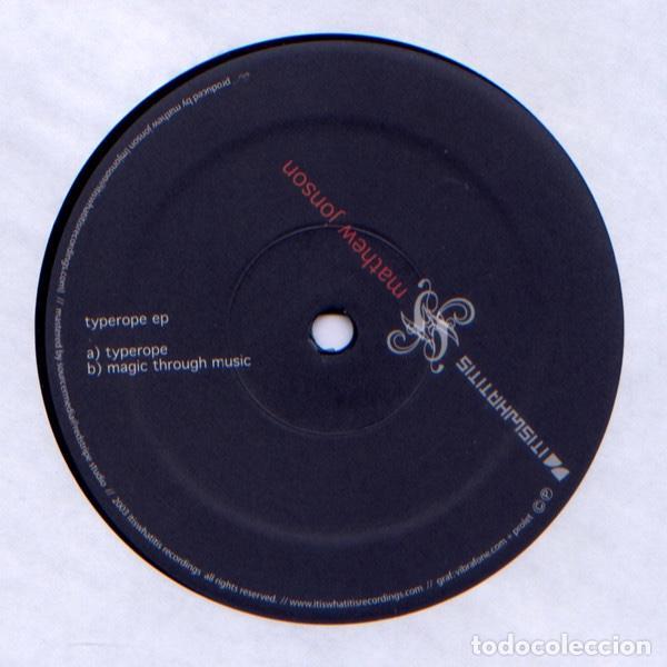MATHEW JONSON – TYPEROPE EP (Música - Discos de Vinilo - EPs - Electrónica, Avantgarde y Experimental)