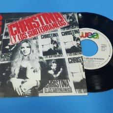 Discos de vinilo: DISCO DE VINILO SINGLE CHRISTINA Y LOS SUBTERRANEOS 1000 PEDAZOS. Lote 189678286