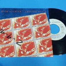 Discos de vinilo: DISCO DE VINILO SINGLE DIRE STRAITS CALLING ELVIS. Lote 189678812