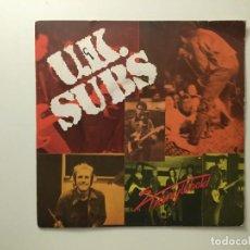 Discos de vinilo: U.K. SUBS – STRANGLEHOLD - WORLD WAR - ROCKERS UK 1979 GEM. Lote 189681306