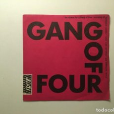 Discos de vinilo: GANG OF FOUR ?– DAMAGED GOODS - LOVE LIKE ANTHRAX - ARMALITE RIFLE UK 1978 FAST PRODUCT. Lote 189697308