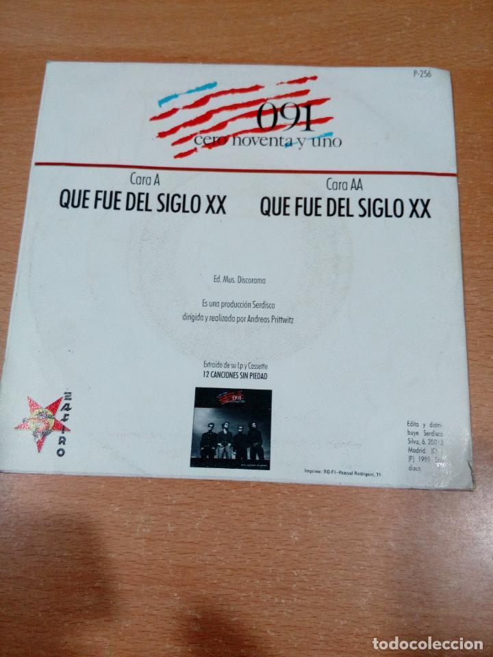 Discos de vinilo: 091 - cero noventa y uno - que fue del siglo xx - disco promocional- buen estado -leer- ver fotos - Foto 2 - 189718027