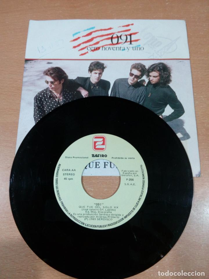 Discos de vinilo: 091 - cero noventa y uno - que fue del siglo xx - disco promocional- buen estado -leer- ver fotos - Foto 4 - 189718027