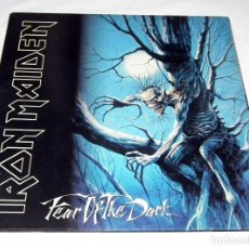 Discos de vinilo: LP IRON MAIDEN - FEAR OF THE DARK. Lote 189732931