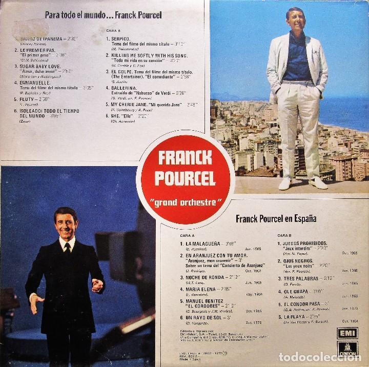 Discos de vinilo: FRANCK POURCEL - PARA TODO EL MUNDO + EN ESPAÑA - Foto 2 - 189733045
