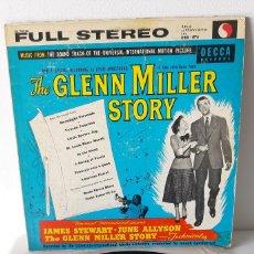 Discos de vinilo: GLENN MILLER STORY. JAMES STEWART. JUNE ALLISON. DECCA. VENEZUELA.. Lote 189733552