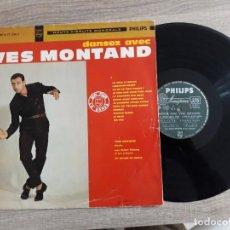 Discos de vinilo: YVES MONTAND.DANSEZ AVEC.FABRIQUE EN FRANCE.. Lote 189740676