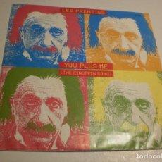 Discos de vinilo: SINGLE LEE PRENTISS. YOU PLUS ME (THE EINSTEIN SONG) ZAFIRO 1987 SPAIN (PROBADO Y BIEN, SEMINUEVO). Lote 189741300