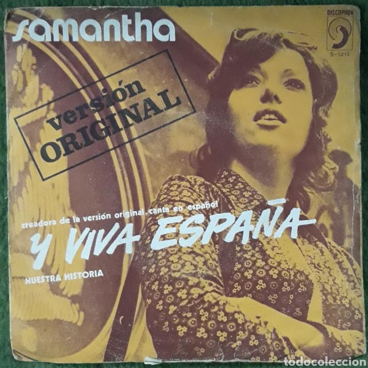 VINILO SAMANTHA Y VIVA ESPAÑA (Música - Discos de Vinilo - EPs - Cantautores Españoles)